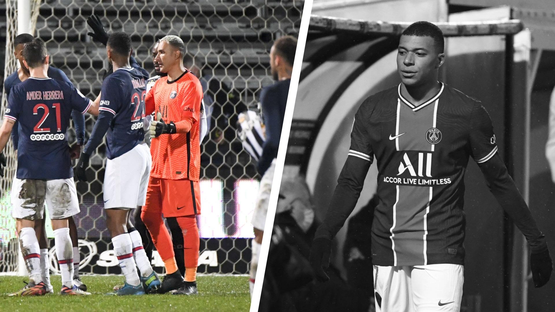 Football - Ligue 1 - Tops/Flops Angers-PSG : Navas en sauveur, Mbappé les mêmes maux