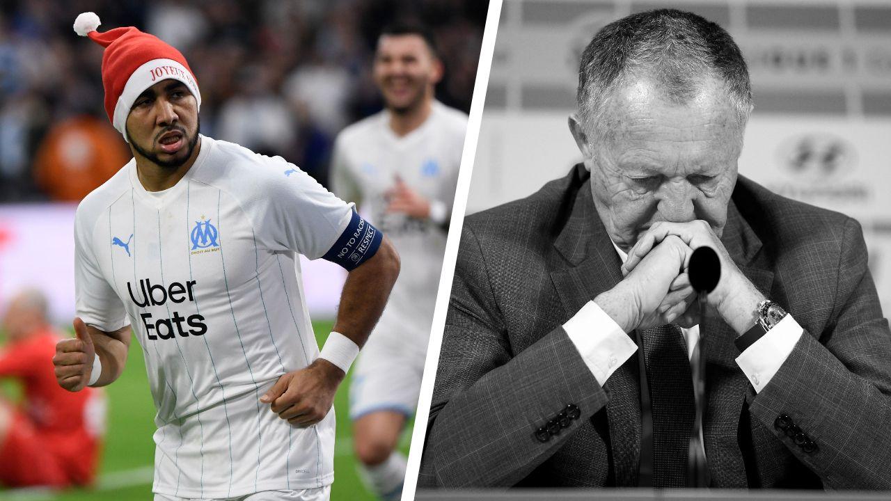 Football - Ligue 1 - Tops/Flops de la Ligue 1 à mi-saison : l'OM dauphin solide, l'OL en plein cauchemar