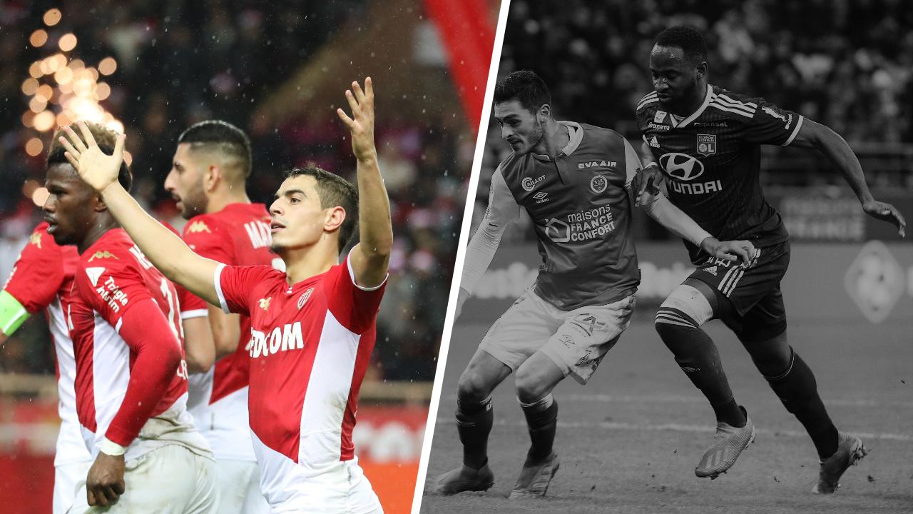 Football - Ligue 1 - Tops/Flops de la soirée de Ligue 1 : Ben Yedder porte Monaco, Dembélé plombe Lyon