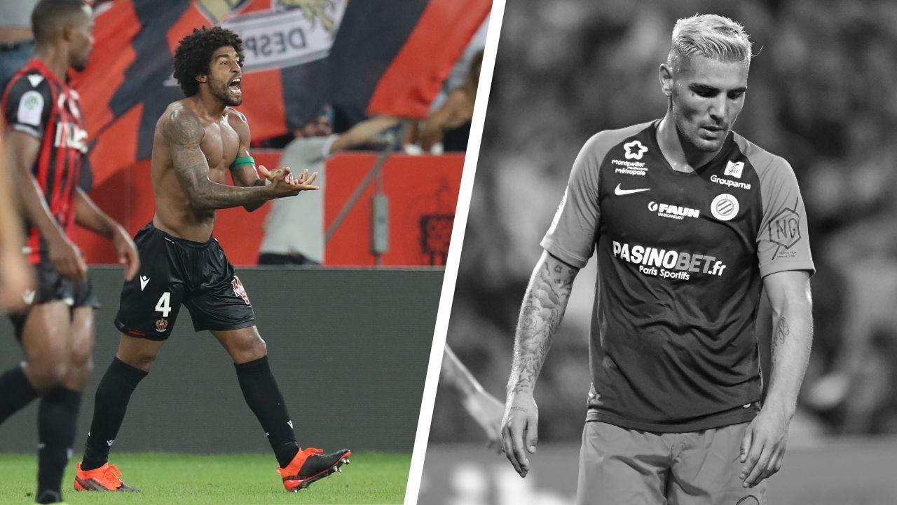Football - Ligue 1 - Tops/Flops de la soirée de Ligue 1 : Dante délivre Nice, Delort rate le coche