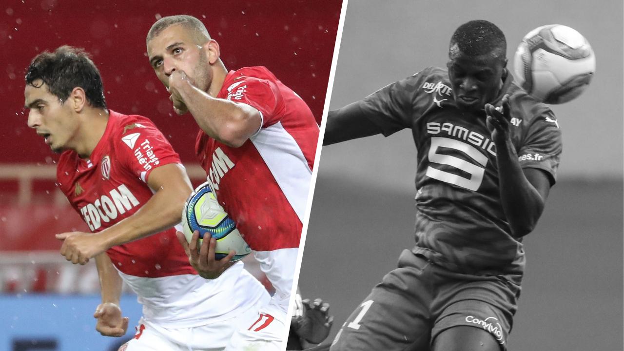 Football - Ligue 1 - Tops/Flops de Monaco-Rennes : le duo Slimani-Ben Yedder frappe encore, Rennes à l'arrêt