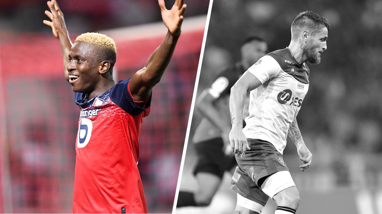 Football - Ligue 1 - Tops/flops Lille - Saint-Etienne : Osimhen a encore frappé, les Verts dépassés