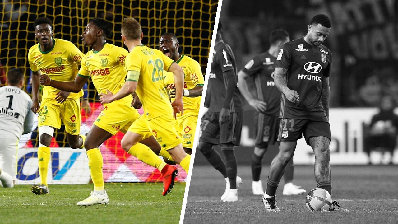 Football - Ligue 1 - Tops/Flops Nantes-Lyon : Limbombe ce héros, Memphis zéro