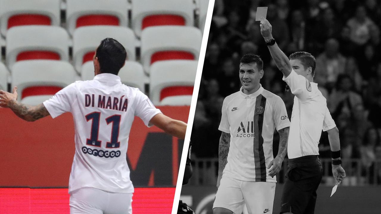 Football - Ligue 1 - Tops/Flops Nice-PSG : Di Maria de gala, des expulsions qui font parler