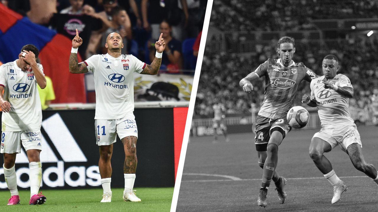 Football - Ligue 1 - Tops/Flops OL-Angers : Depay brille, Pavlovic vacille