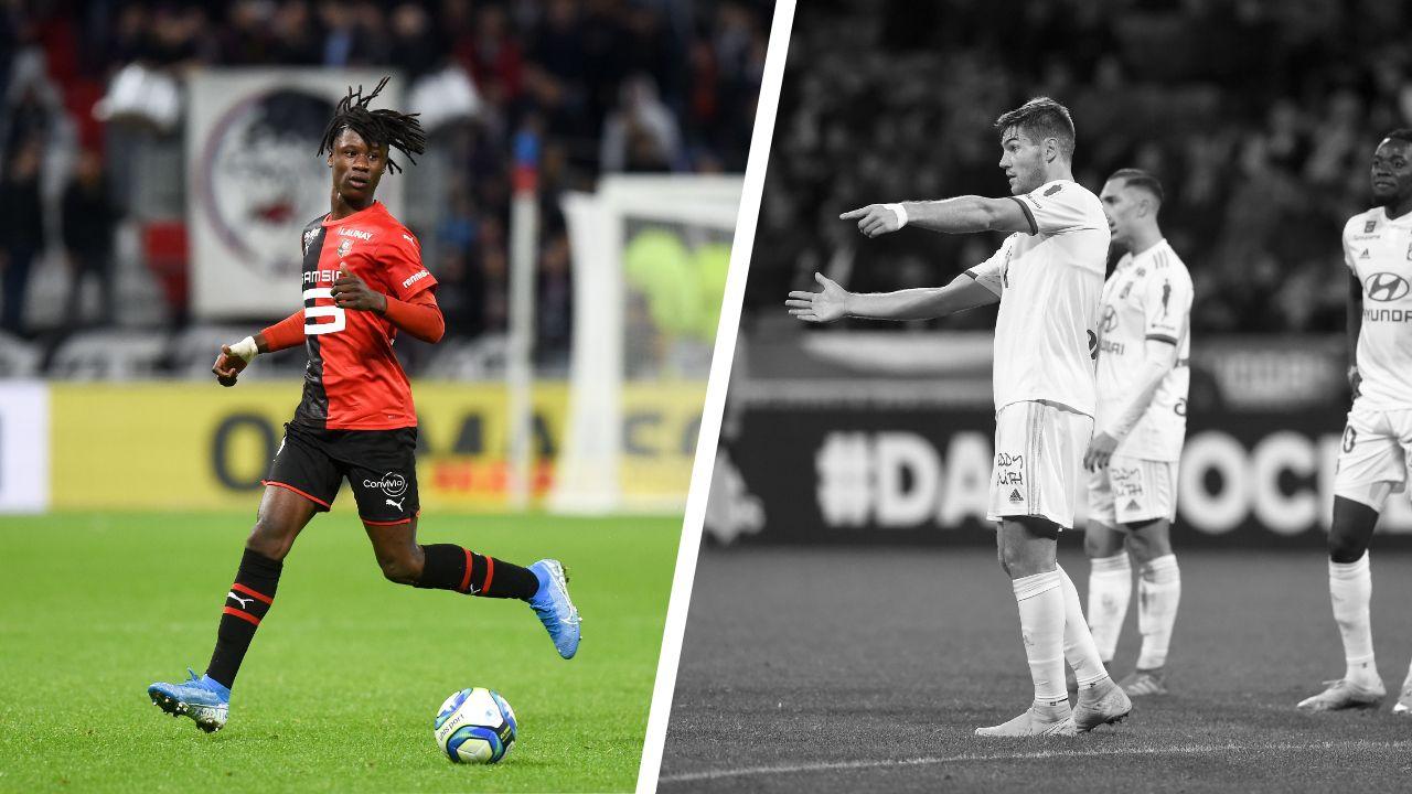 Football - Ligue 1 - Tops/Flops OL-Rennes : le délice de Camavinga, le calvaire d'Andersen