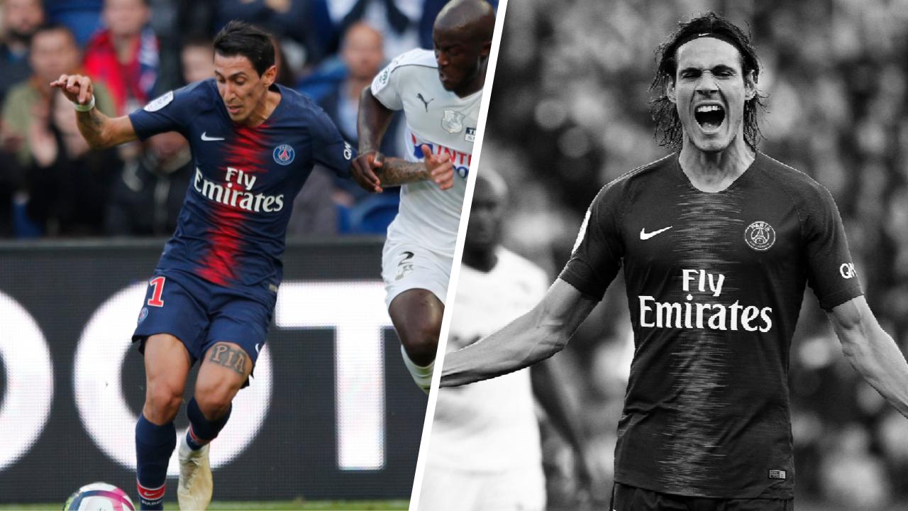 Football - Ligue 1 - Tops/Flops PSG-Amiens : Les caviars de Di Maria, le gâchis de Cavani