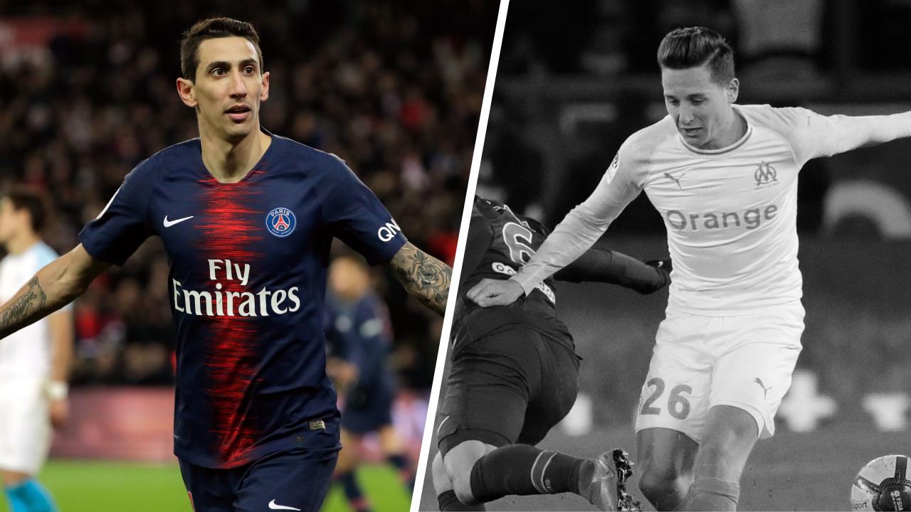 Football - Ligue 1 - Tops/Flops PSG-OM : Di Maria en forme olympique, Thauvin apathique