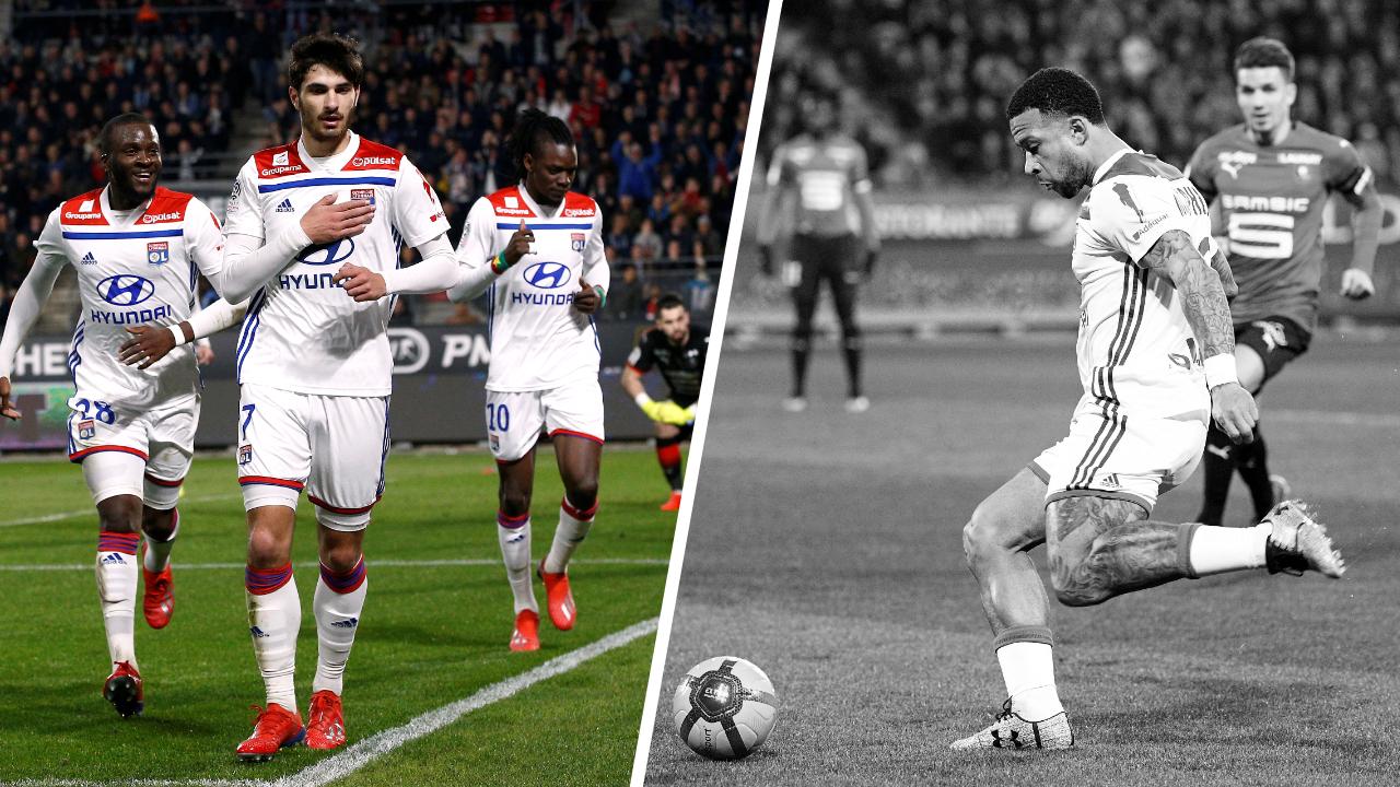 Football - Ligue 1 - Tops/Flops Rennes-Lyon : Terrier libère les Gones, la déception Depay