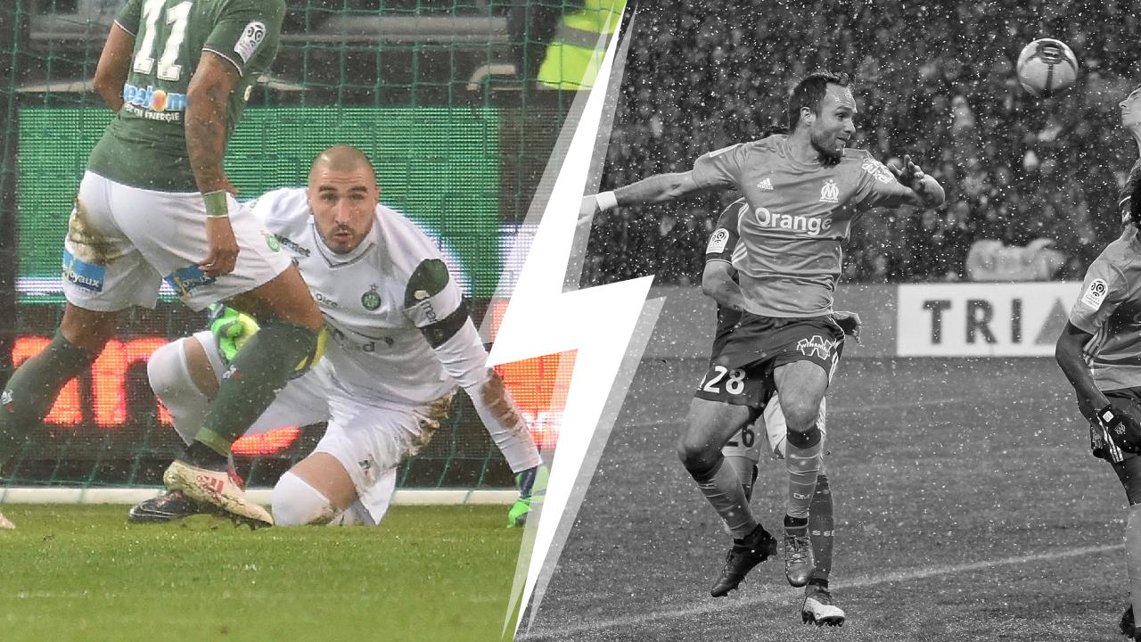 Football - Ligue 1 - Tops/Flops Saint-Etienne-Marseille : Ruffier sauve les Verts, Germain absent