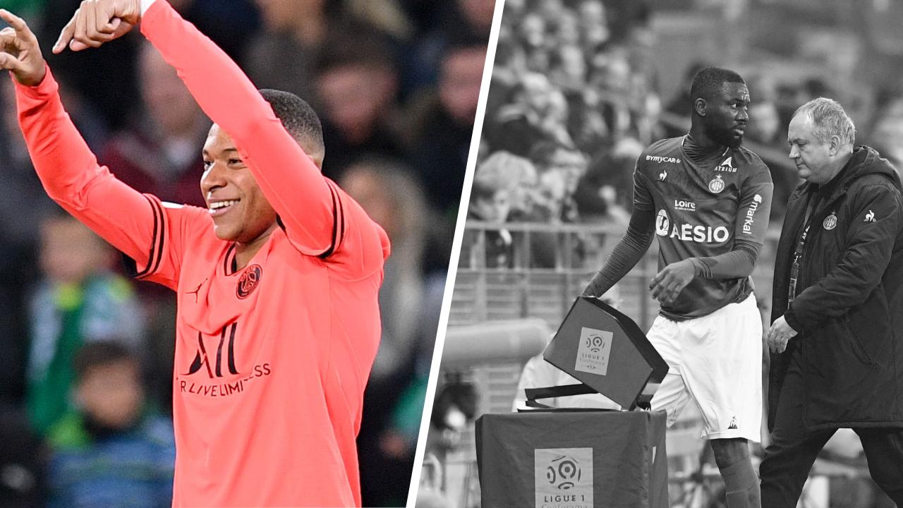 Football - Ligue 1 - Tops/Flops Saint-Etienne-PSG : Mbappé a été clinique, Aholou a plombé les Verts