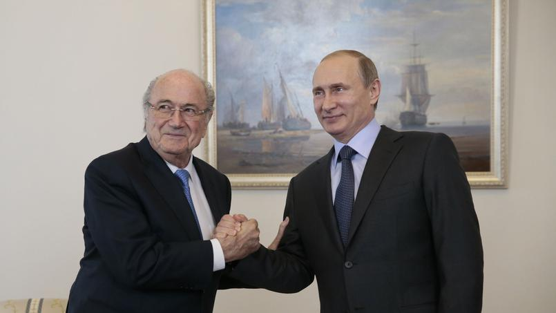 Football - Ligue 1 - Mondial 2018: Blatter présent en Russie suite à «l'invitation de Poutine»