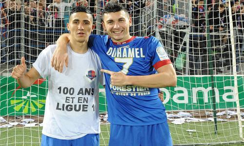 Fayçal Fajr et Mathieu Duhamel, deux des artisans de la remontée de Caen en Ligue 1