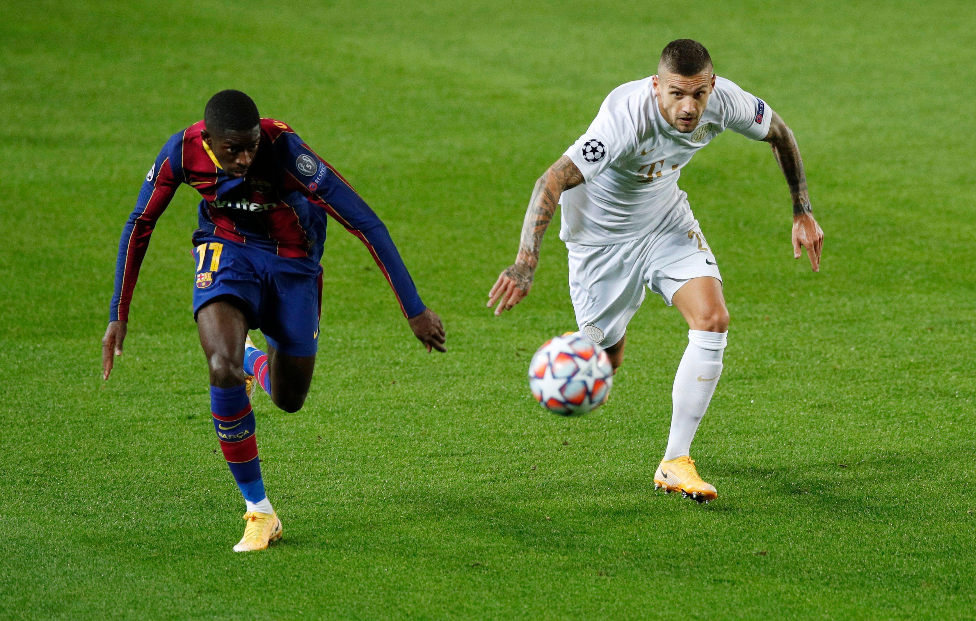 Barça : Dembélé décisif, Griezmann cloué sur le banc - Ligue des champions - Football