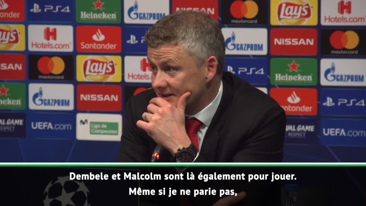Football - Ligue des champions - Beau joueur, Solskjaer voit «Barcelone gagner la Ligue des champions»