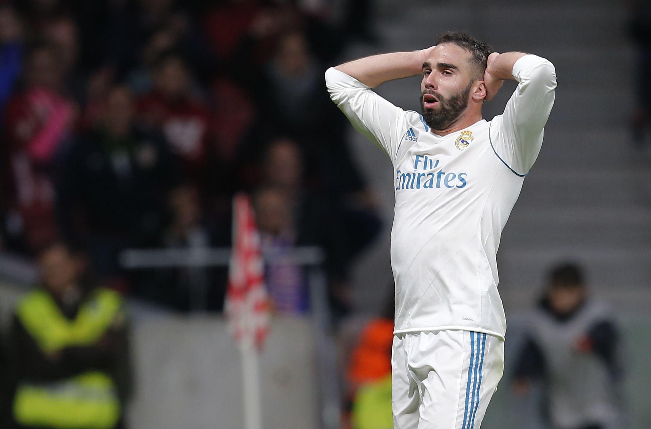 Football - Ligue des champions - Carvajal suspendu contre le PSG, un souci de plus pour Zidane et le Real