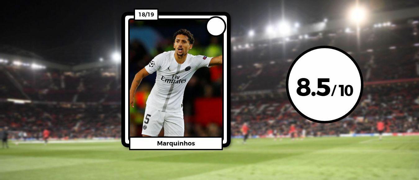 Football - Ligue des champions - Les notes des Parisiens à Manchester : Marquinhos éteint Pogba, Thiago Silva en patron