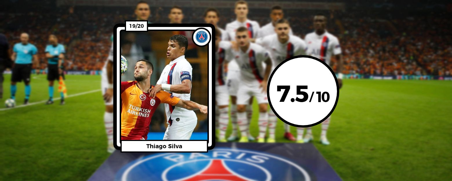 Football - Ligue des champions - Les notes du PSG contre Galatasaray : la sérénité de Thiago Silva et Verratti