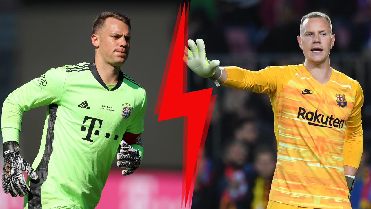 Football - Ligue des champions - Manuel Neuer et Marc-André Ter Stegen, duel de géants