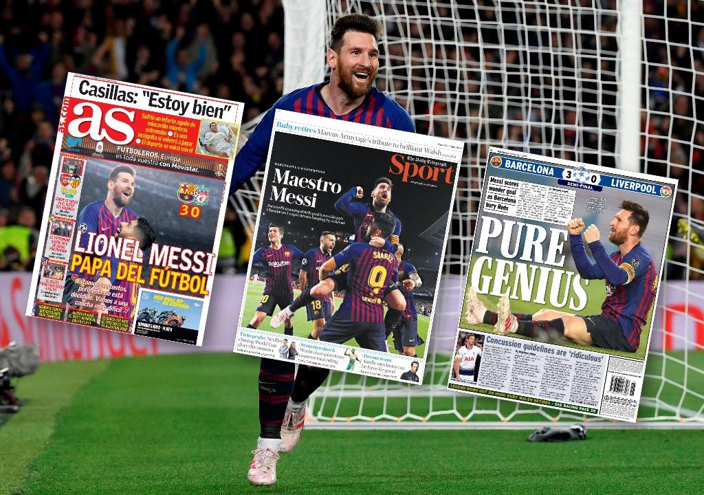 Football - Ligue des champions - «Pape du football», «Maestro», «pur génie» : la presse s'enflamme pour Messi après Barça-Liverpool