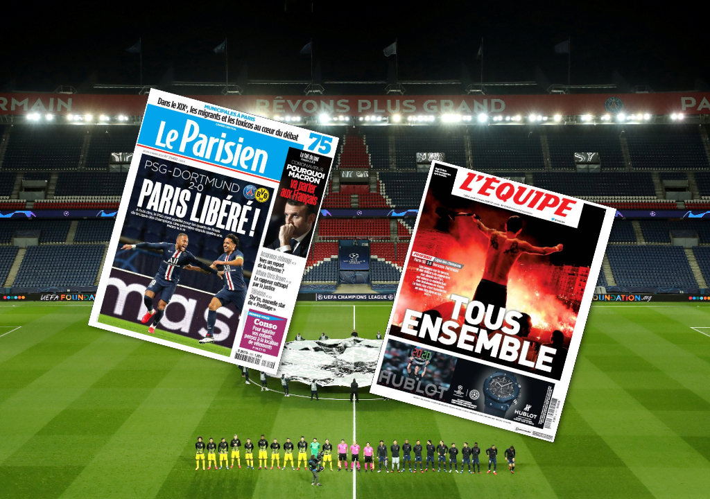 Football - Ligue des champions - «Paris Libéré ! », «Fin de la malédiction» : la presse salue le retour du PSG en quarts de finale