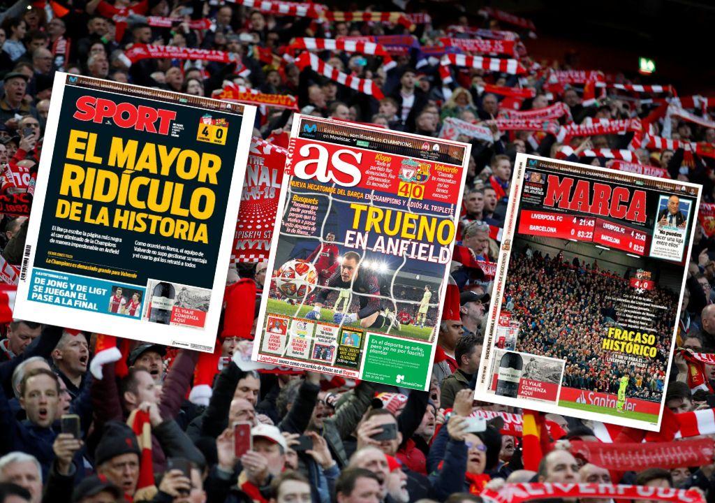 Football - Ligue des champions - Revue de presse : Pour l'Espagne, «le Barca le plus ridicule de l'histoire»