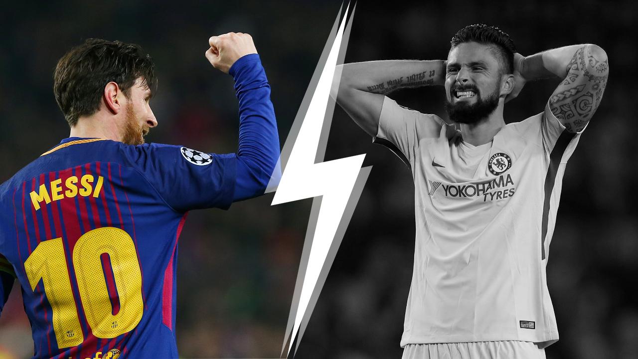 Football - Ligue des champions - Tops/Flops Barcelone-Chelsea : Messi évidemment, Giroud sans allant