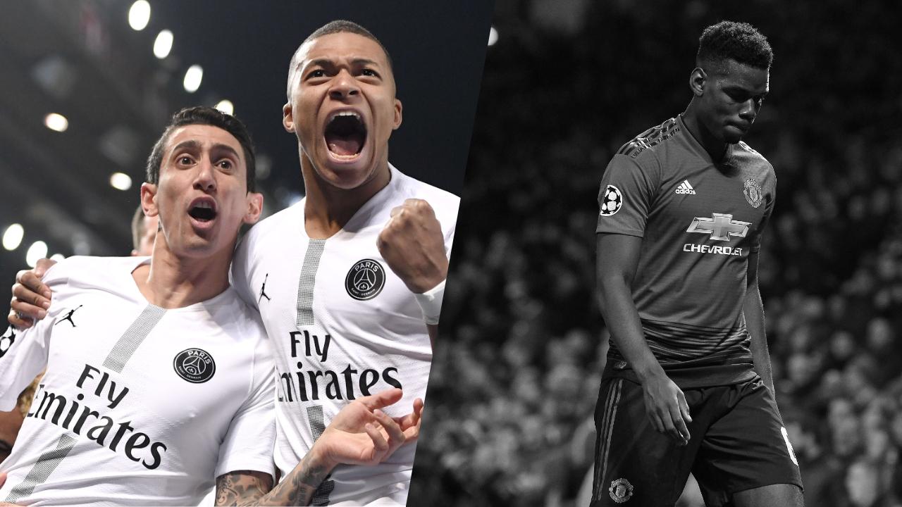 Football - Ligue des champions - Tops/Flops Man United-PSG : Di Maria-Mbappé, duo gagnant, Pogba est passé à côté