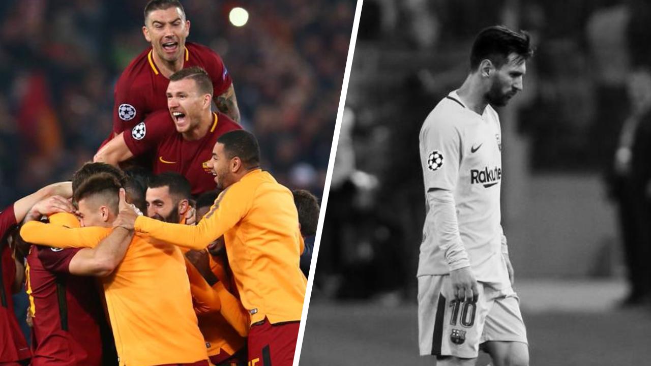 Football - Ligue des champions - Tops/Flops Rome-Barcelone : éternelle Roma, l'ombre de Messi et Piqué