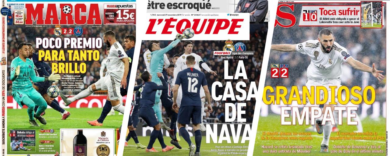 Football - Ligue des champions - «Un nul grandiose», «La Casa de Navas» : la revue de presse après Real Madrid-PSG