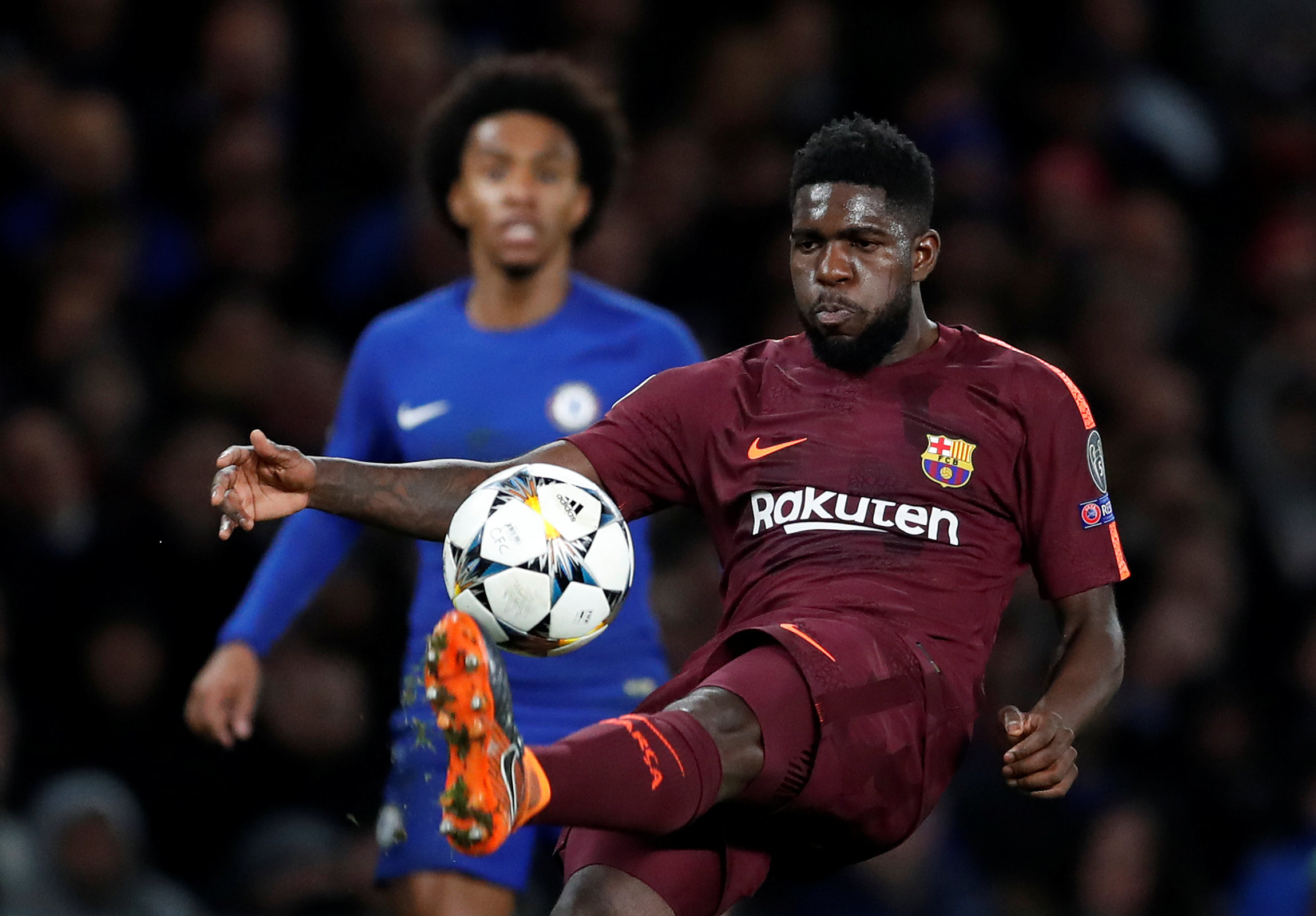 Football - Ligue des champions - Un rempart catalan nommé Umtiti