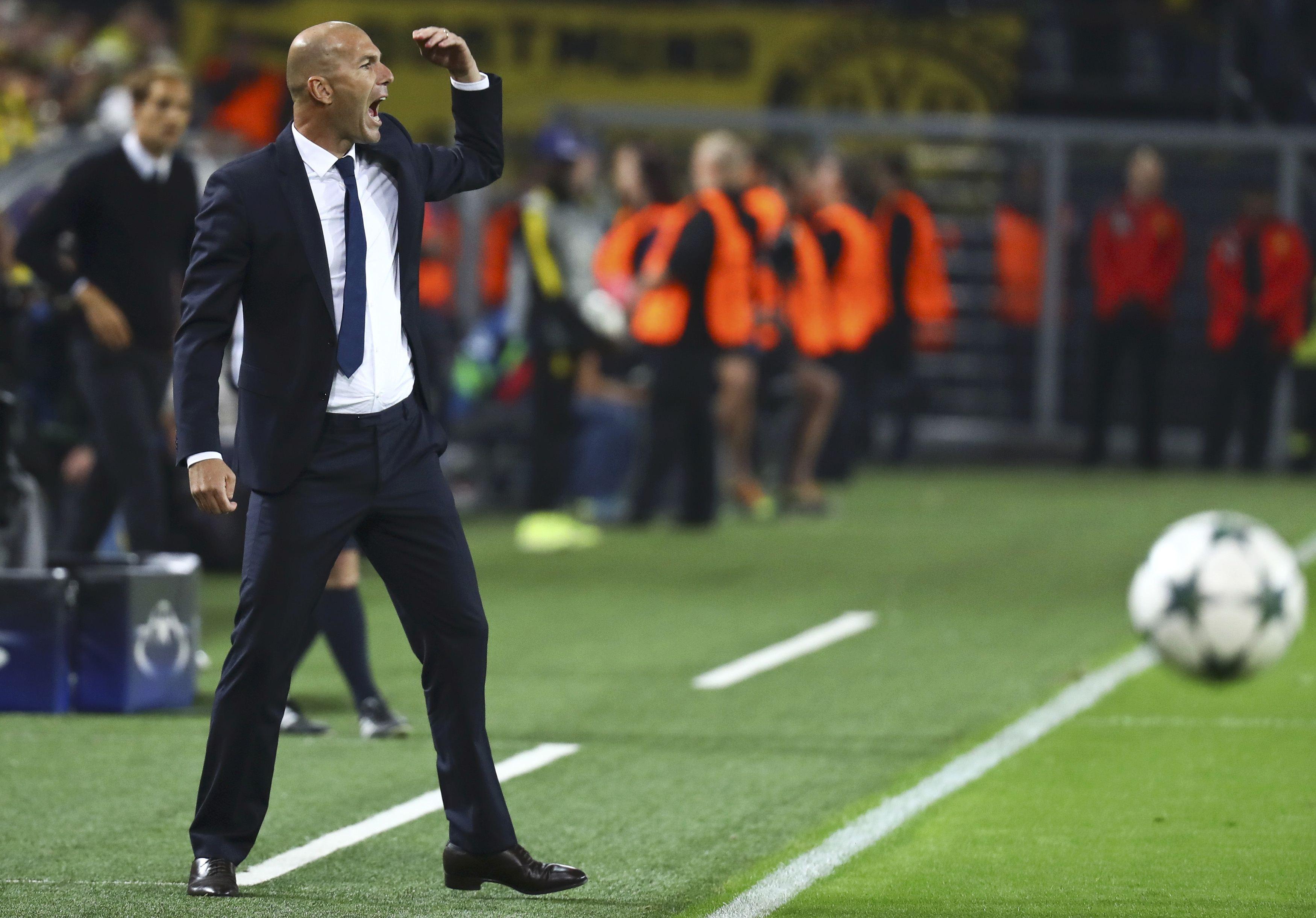 Football - Ligue des champions - Zidane «dégoûté» par le nul du Real face à Dortmund