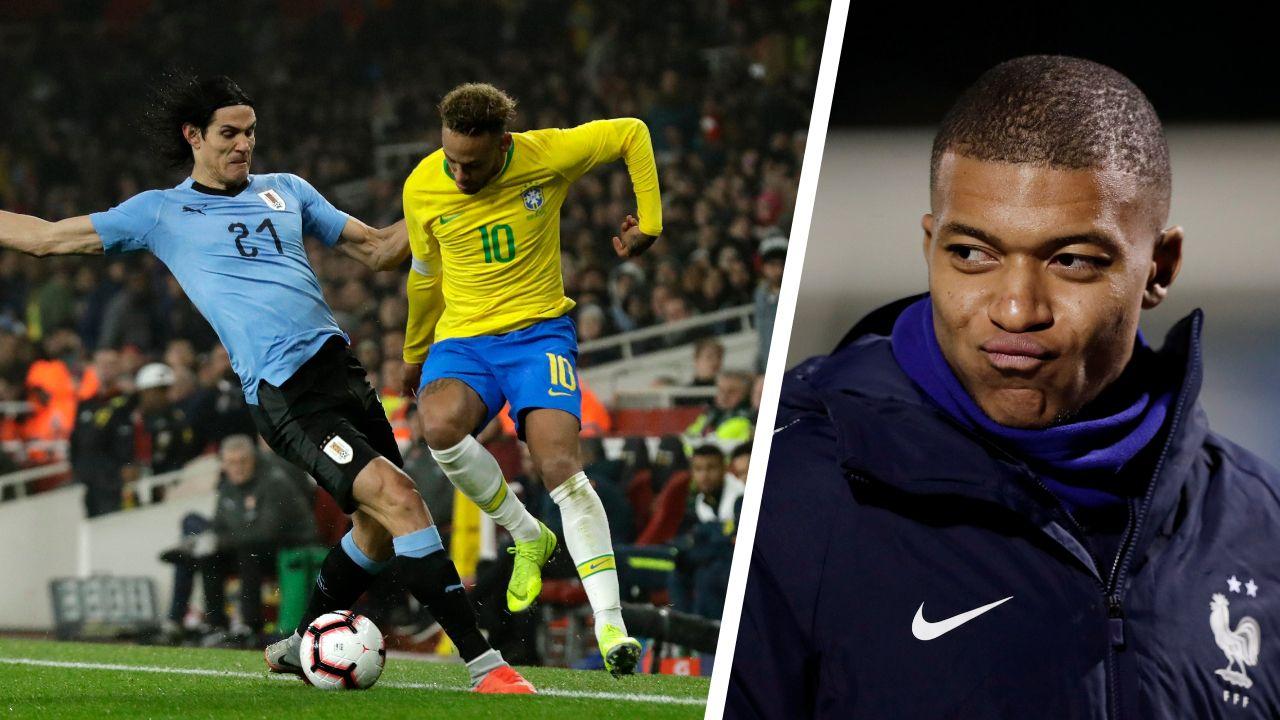 Football - Ligue des nations - La «friction» Neymar-Cavani : «Ils vont se faire de grands câlins» plaisante Mbappé