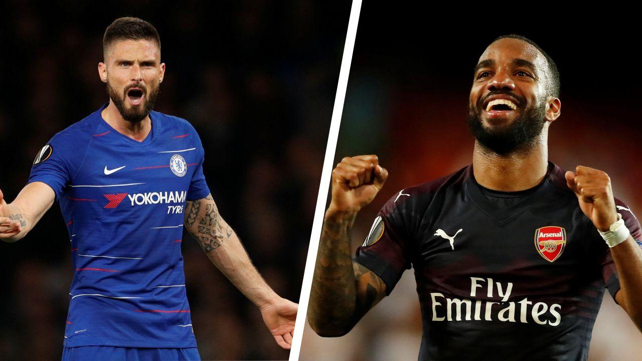 Football - Ligue Europa - Chelsea-Arsenal : Giroud-Lacazette, duel de Frenchies à Bakou