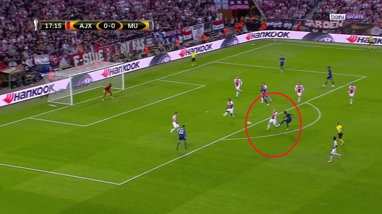 Football - Ligue Europa - Ligue Europa : «Pogboom» trouve l'ouverture depuis l'entrée de la surface (vidéo)