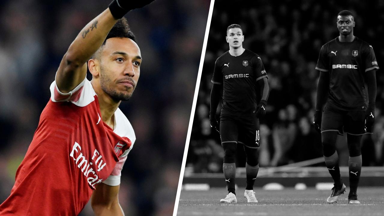 Football - Ligue Europa - Tops/Flops Arsenal-Rennes : Aubameyang déterminant, des Bretons pas assez mordants