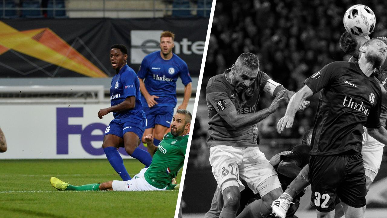 Football - Ligue Europa - Tops/flops La Gantoise - Saint-Etienne : David voit double, Perrin en plein trouble