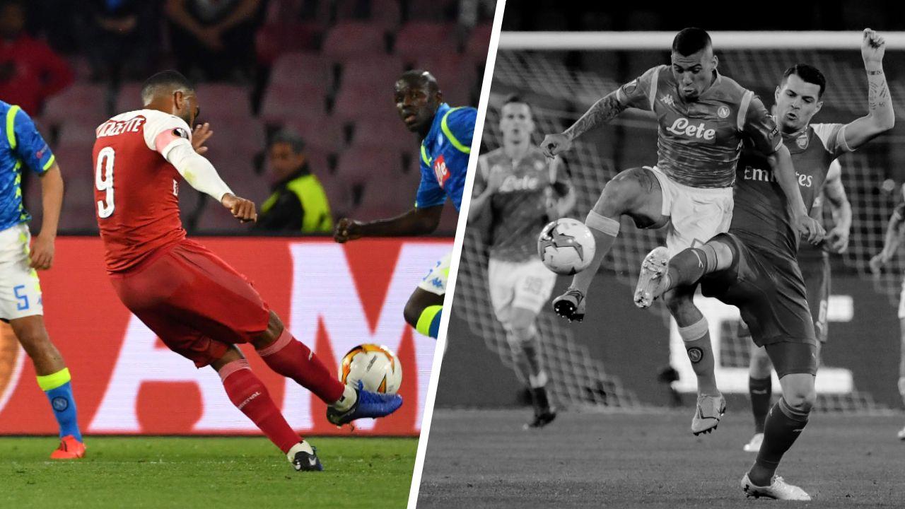 Football - Ligue Europa - Tops/Flops Naples-Arsenal : Le coup de canon de Lacazette, Allan fantomatique