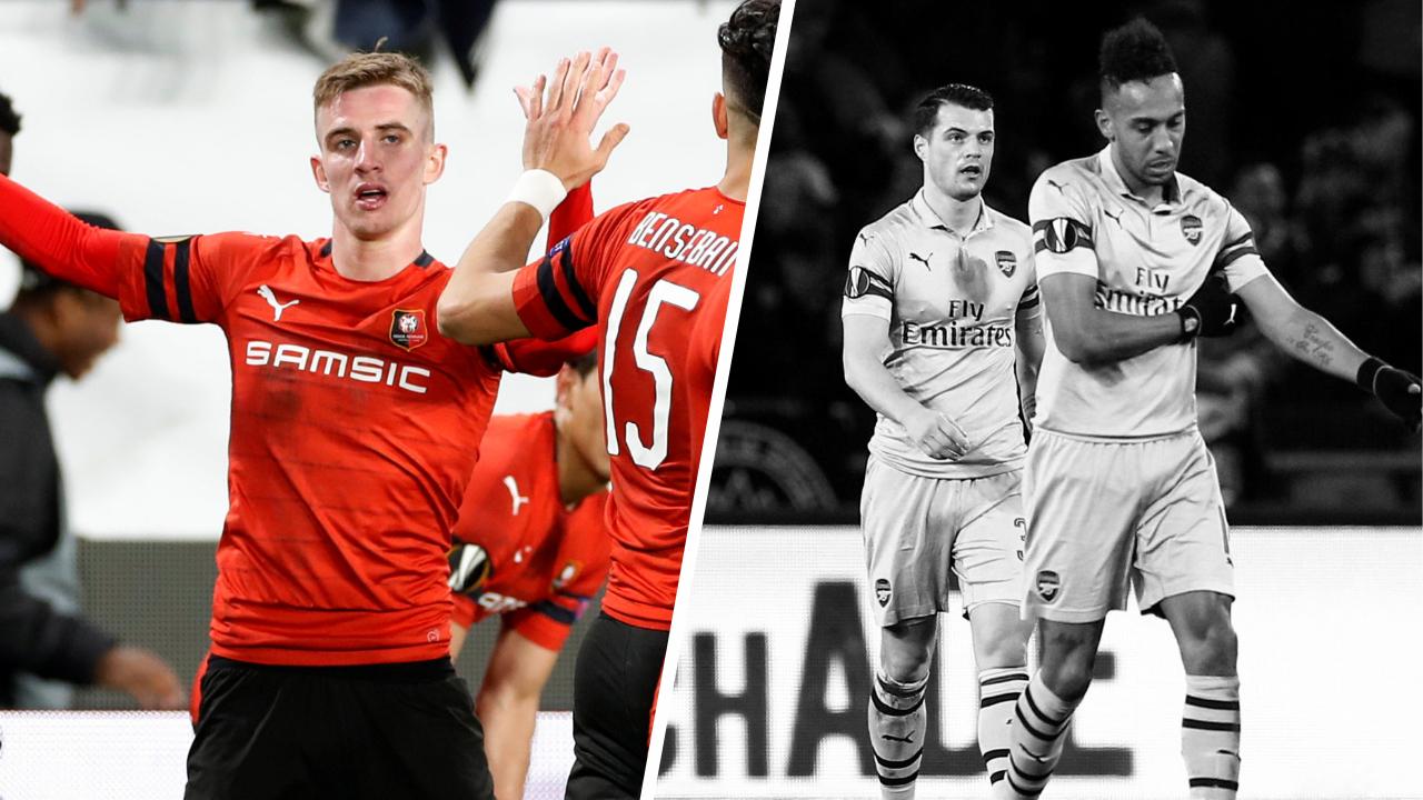 Football - Ligue Europa - Tops/Flops Rennes-Arsenal : Bourigeaud a sonné la révolte, Arsenal à la peine