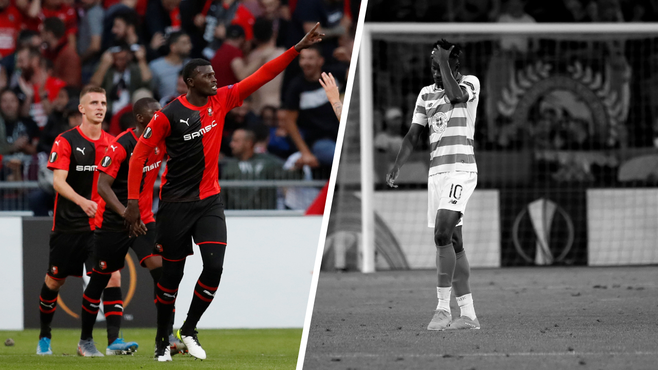 Football - Ligue Europa - Tops/Flops Rennes-Celtic : Niang en impose, Bayo voit rouge