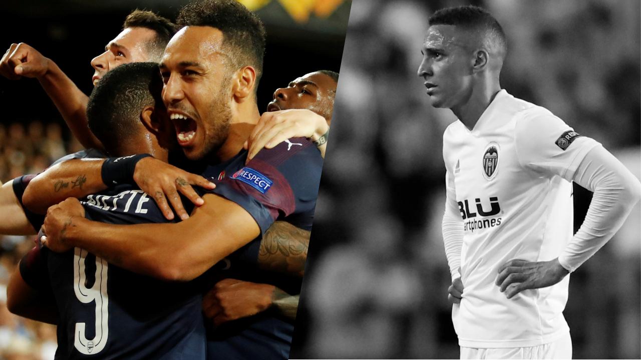 Football - Ligue Europa - Tops/Flops Valence-Arsenal : Aubameyang-Lacazette les inséparables, Valence trop friable