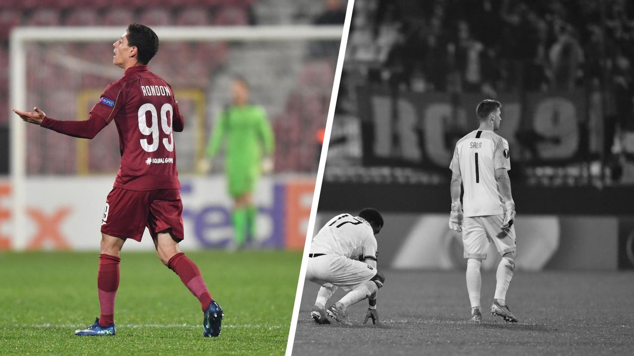 Football - Ligue Europa - Tops/Flops Cluj-Rennes : Le réalisme de Rondon, l'impuissance de Salin