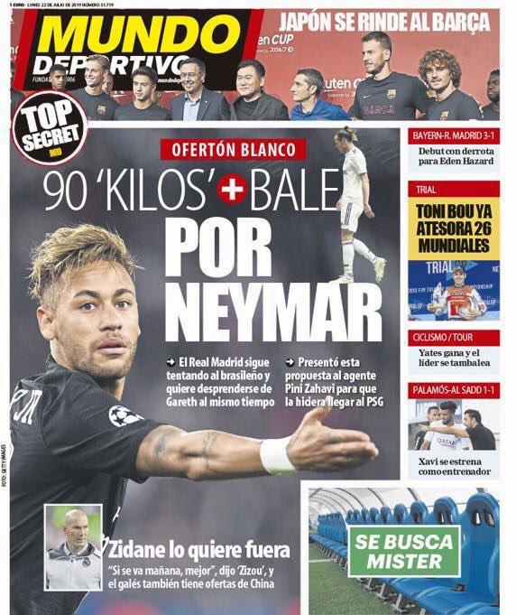 Football - Transferts - Gareth Bale + 90 M¬ : l'offre du Real Madrid pour Neymar