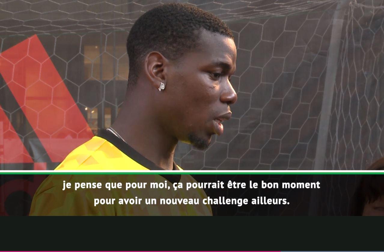 Football - Transferts - Pogba pense ouvertement à «un nouveau challenge», loin de Manchester (vidéo)