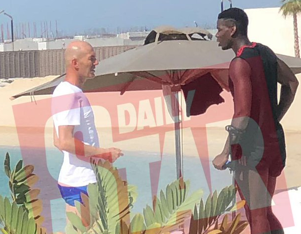 Football - Transferts - Pogba-Zidane à Dubaï: la photo qui relance les rumeurs d'un transfert