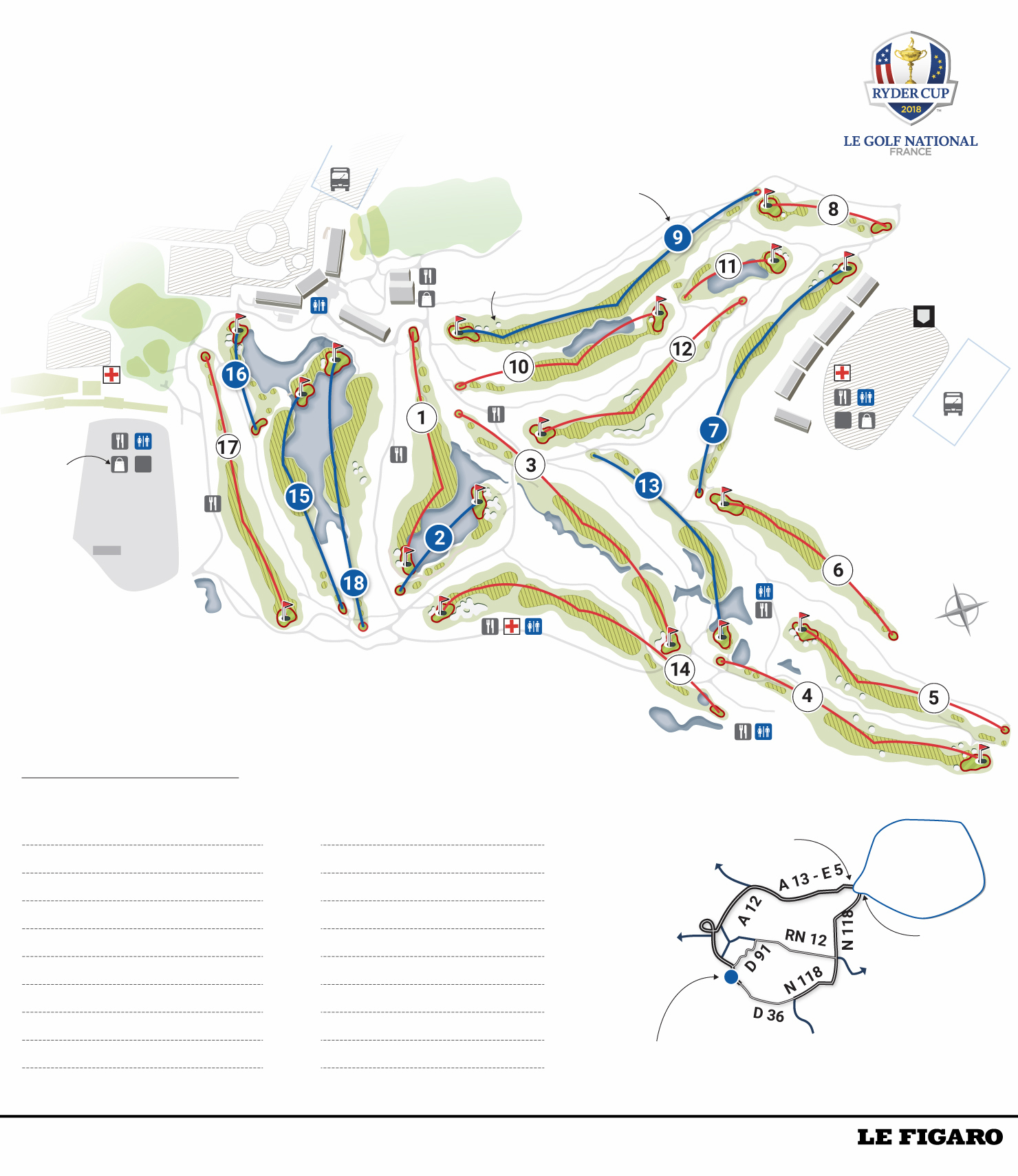 Golf - Ryder Cup - Ryder Cup 2018 : tout connaître les pièges de l'Albatros