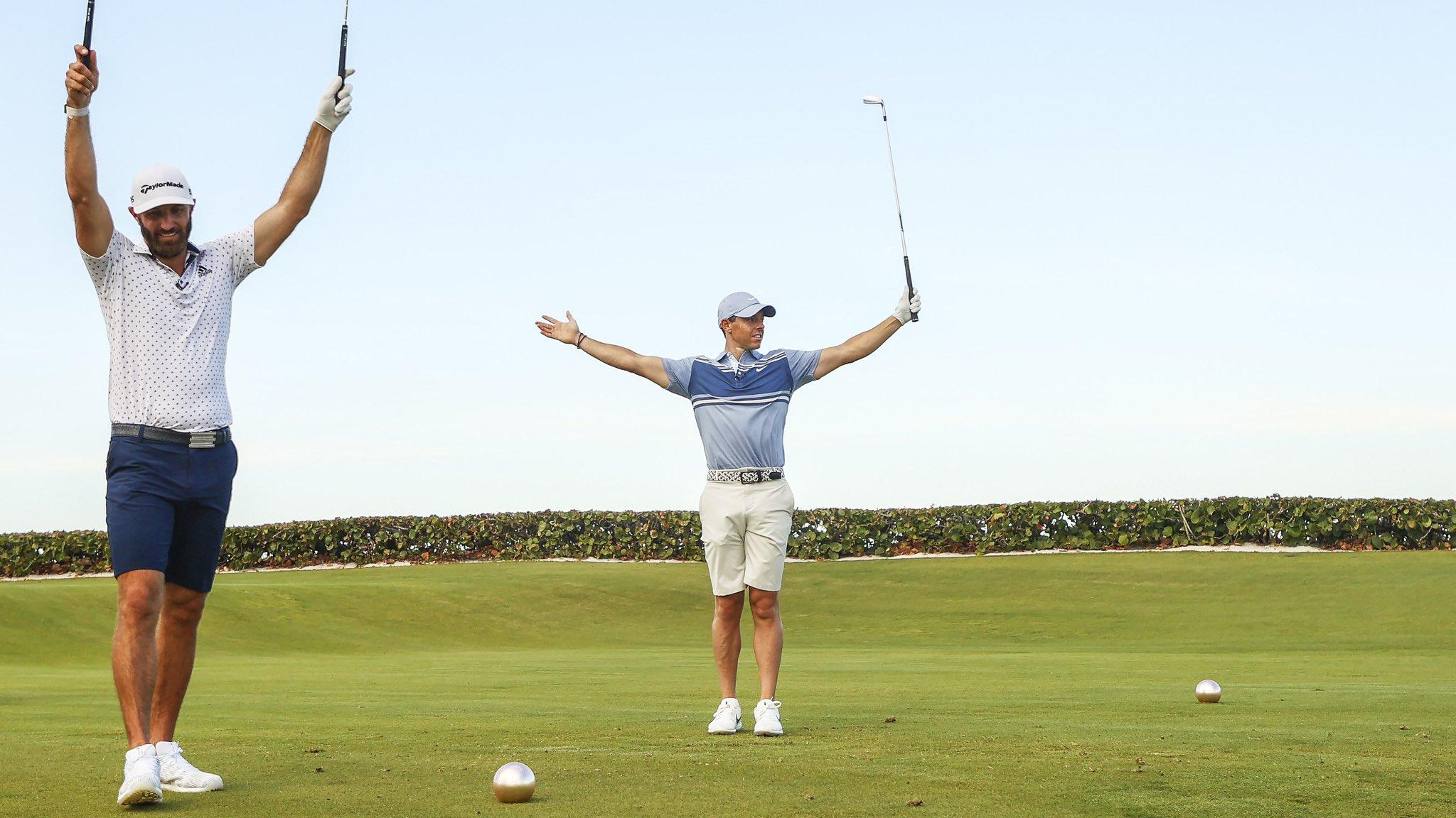 Golf - Tour américain - Rory McIlroy et Dustin Johnson gagnent pour la bonne cause