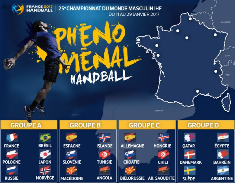 Mondial 2017 calendrier et r sultats equipe de france - Coupe de monde handball calendrier ...