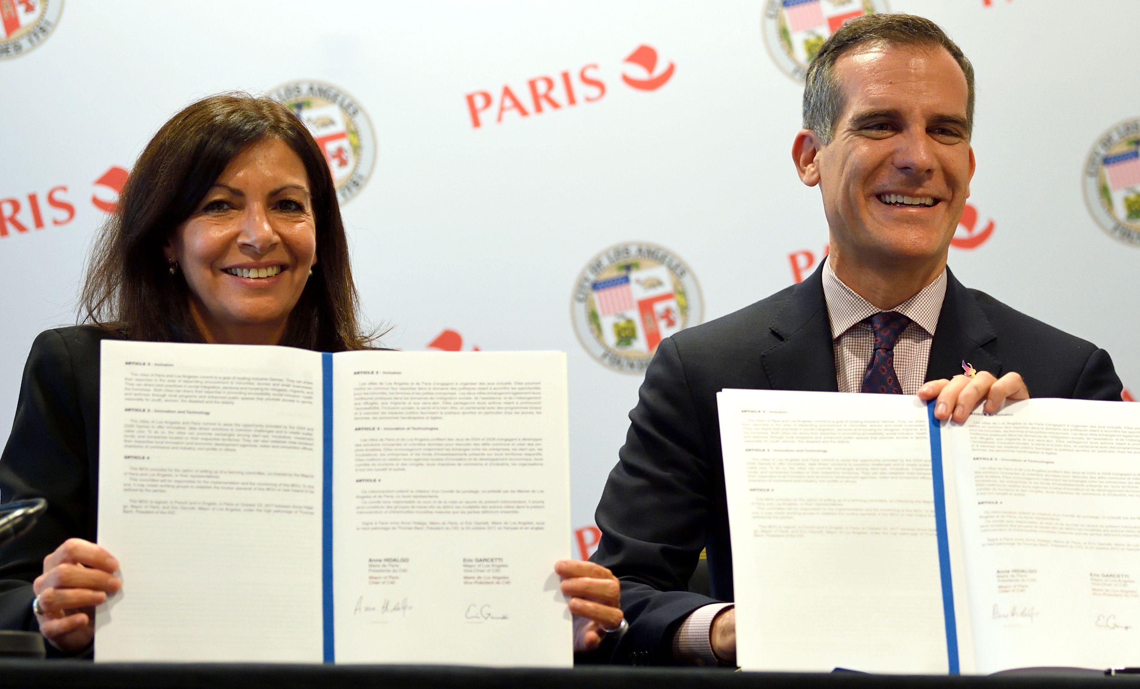 Jeux olympiques - JO 2024 - JO 2024-2028 : Paris et Los Angeles annonce un accord de «jumelage olympique»