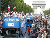 Bus des athletes Francais